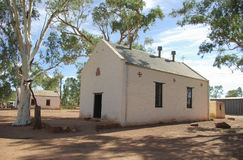 Iglesia vieja en Hermannsburg, Australia Foto de archivo libre de regalías