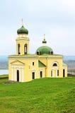 Iglesia vieja en Khotyn, Ucrania occidental Imagen de archivo libre de regalías