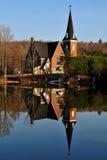 Iglesia vieja en Knowlton Quebec Foto de archivo libre de regalías