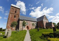 Iglesia vieja en la isla de Föhr (Alemania) Imagen de archivo libre de regalías