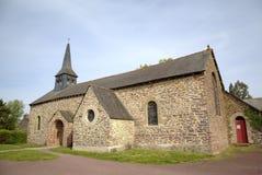 Iglesia vieja en Paimpont Broceliande, Francia Fotografía de archivo libre de regalías