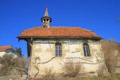 Iglesia vieja, Granero-sur-Margosa, Fribourg Imagenes de archivo