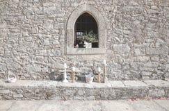 Iglesia vieja Grecia de Sideview foto de archivo libre de regalías