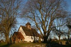 Iglesia vieja Noruega de Glemmen Imagenes de archivo