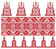 Iglesia vieja rusa del bordado stock de ilustración