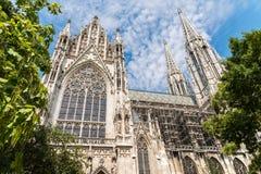 Iglesia votiva neogótica (Votivkirche) en Viena foto de archivo libre de regalías