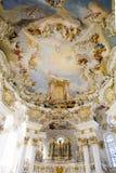 Iglesia Wies del órgano fotos de archivo libres de regalías