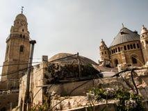 Iglesia y abadía de Dormition en el monte Sion en Jerusalén Foto de archivo libre de regalías
