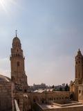 Iglesia y abadía de Dormition en el monte Sion en Jerusalén Imagen de archivo libre de regalías
