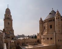 Iglesia y abadía de Dormition en el monte Sion en Jerusalén Fotografía de archivo