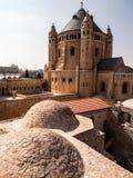 Iglesia y abadía de Dormition en el monte Sion en Jerusalén Fotos de archivo libres de regalías