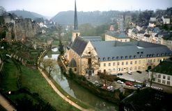 Iglesia y abadía en Luxemburgo Fotografía de archivo libre de regalías
