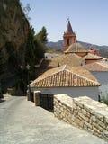 Iglesia y azoteas, verticales Imágenes de archivo libres de regalías