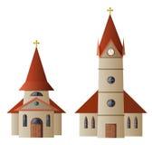 Iglesia y capilla stock de ilustración