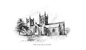 Iglesia y catedral stock de ilustración