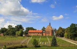 Iglesia y convento dominicanos de San Jaime en Sandomierz foto de archivo