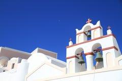 Iglesia y luna Foto de archivo libre de regalías