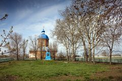 Iglesia y monumento Foto de archivo