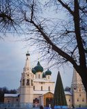 Iglesia y nieve foto de archivo libre de regalías