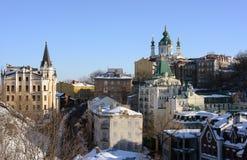 Iglesia y pendiente, Kiev de St Andrew Foto de archivo libre de regalías