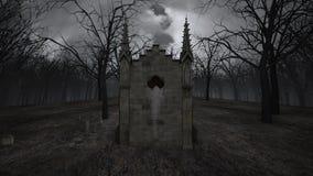 Iglesia y sepulcro ilustración del vector