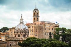 Iglesia y Tabularium, Roma de Santi Luca e Martina Imágenes de archivo libres de regalías