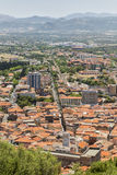 Iglesias from above. View of the town of Iglesias in Sardinia, Italy from the top of a hill Stock Image