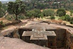 Iglesias de las tallas de la roca de Lalibela en Etiopía foto de archivo