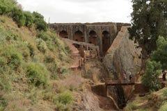 Iglesias de las tallas de la roca de Lalibela en Etiopía fotografía de archivo libre de regalías