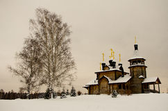 Iglesias de madera de Rusia Fotografía de archivo libre de regalías