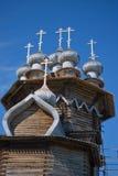 Iglesias de madera en la isla Kizhi Imagen de archivo