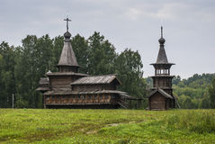 Iglesias de madera viejas Fotografía de archivo libre de regalías