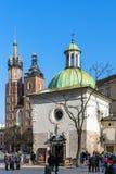 Iglesias en Kraków Imagen de archivo