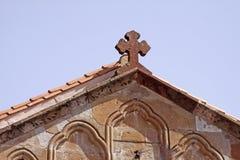 Iglesias gammal del av staden med kyrkan, Sardinia, Italien Arkivbilder