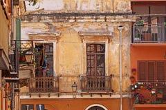 Iglesias gammal del av staden, Sardinia, Italien arkivbilder
