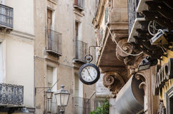 Iglesias, oud deel van stad, Sardinige, Italië, Europa royalty-vrije stock foto