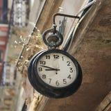 Iglesias Sardinia. On old clock on a building in Iglesias, Sardinia, Italy Stock Photos