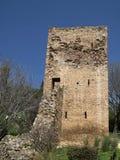 Iglesias with tower of Castello Salvaterra, Sardinia Stock Images