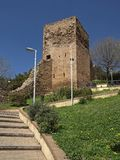 Iglesias with tower of Castello Salvaterra, Sardinia Royalty Free Stock Photography