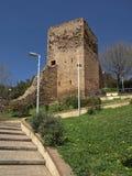 Iglesias with tower of Castello Salvaterra, Sardinia Royalty Free Stock Photography