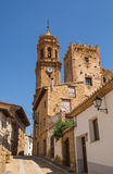 Iglesuela del Cid rural church clocktower Stock Photo
