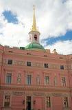 Iglica świętego Michael kasztel, święty Petersburg Zdjęcie Stock