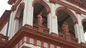 Iglica i fasada madonny della Bozzola sanktuarium, Garlasco, PV, Włochy zbiory wideo