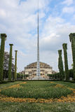 Iglica Monument in Front of Centennial Hall in Wroclaw, Poland Royalty Free Stock Image