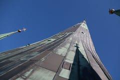 Iglica St Olaf kościół Zdjęcia Stock