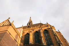 Iglica szczegół ollegiale święty x28 &; świętego col Obrazy Stock