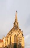 Iglica szczegół ollegiale święty x28 &; świętego col Obraz Stock