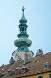 Iglica wierza St. Michael brama, Bratislava Zdjęcie Stock