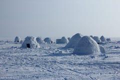 igloo Деревня эскимосов Стоковые Фотографии RF