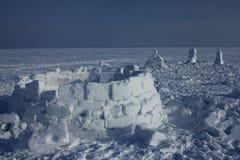 igloo Деревня эскимосов Стоковое Фото